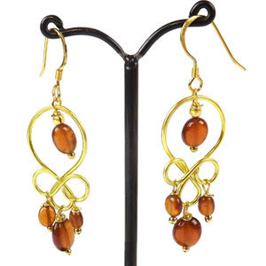 create wire looped earrings