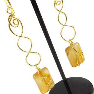 create wire weave earrings