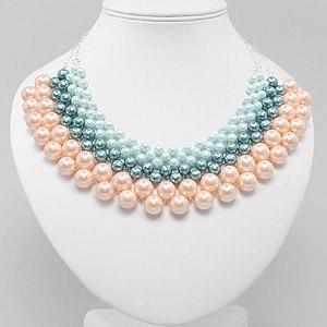 create woven collar necklace