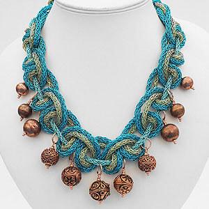 create zari rope necklace