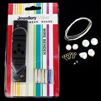 Crescent Moon Pearls Kit including Wire Bending Jig, Tubes, Wire & Pearls