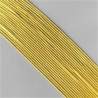 """12"""" Gold Coloured Silver Plated Copper French Wire Approx 1.00mm (20pcs)"""