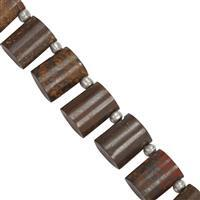 85cts Boulder Opal Smooth Beads Approx 6x6.5 to 9.5x12mm, 19cms Strand