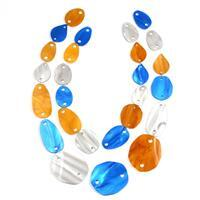 Acrylic Necklace Kit Caramel Marble, Silver Grey, Blueberry Pearl (27 pcs)