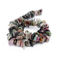 323cts Multi-Colour Tourmaline Flat Nuggets Approx 8x12mm, 38cm Strand