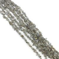 386cts Labradorite Small Nuggets Approx 3x2mm to 9x4mm, 254cm Loose Strands