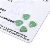 2.2cts Aquaprase 6x6mm Triangle Pack of 4 (N)