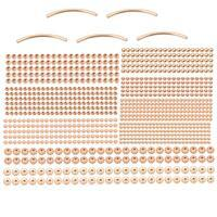 Rose Gold Colour Silver Plated Base Metal Spacer Bead Bumper Pack (1050pcs)