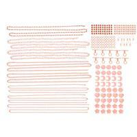 Rose Gold Colour Silver Plated Base Metal Bumper Findings Pack (228pcs)