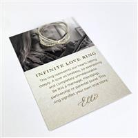 Willow & Tig Collection: 925 Sterling Silver Infinite Love Ring