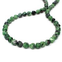 150cts Ruby Zoisite Star Cut Rounds Approx 8mm, 38cm Strand