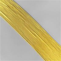 """12"""" Gold Coloured Silver Plated Copper French Wire Approx 0.70mm (20pcs)"""