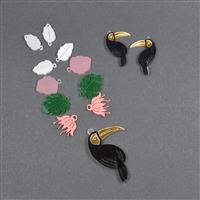 Acrylic Toucan Necklace