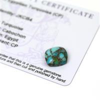 4cts Egyptian Turquoise 12x12mm Cushion  (CP)