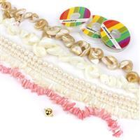 Sheila Boutique Pearl Kit; 7 Strands of Pearls, Threading Pack & 925 Clasp