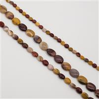 530cts Mookite Fancy Ovals Approx 8x10 to 15x20mm, Set of 3 strands