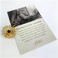 0.25cts Amethyt Willow & Tig Collection: Gold Plateed 925 Sterling Silver Dandelion Charm