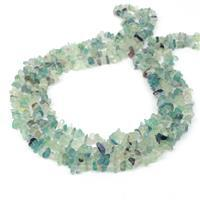 """300cts Multi-Colour Fluorite Small Chips Approx 5x4mm, 60"""" Strand"""