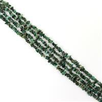 """450cts Emerald Chips Approx 4x1 - 8x4mm, 60"""" Strand"""