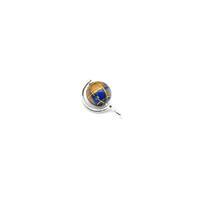 3.79cts Willow & Tig Collection: 925 Sterling Silver & Lapis Lazuli Globe Charm Apox 10mm