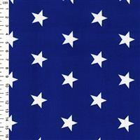 Rose & Hubble Cotton Poplin Royal Blue Stars Fabric 0.5m