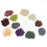 Birthstone Gem Art Kit! Including Gemstone Chips for 12 Months & Bezel Findings Pack