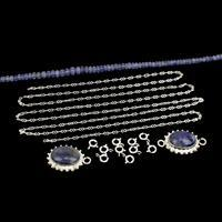 Tanz-talise; 925 Sterling Silver Pendant, Connector, Rondelles, 925 S/S Chain & Clasps