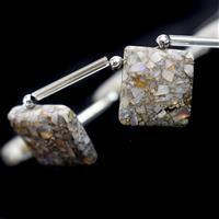 85cts Mojave Australian Opal Smooth Square Approx 17mm to 20mm, 19cm Strand With Spacers