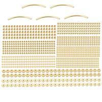 Gold Colour Silver Plated Base Metal Spacer Bead Bumper Pack (1050pcs)