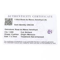 1cts Rose du Maroc Amethyst 7x7mm Cushion  (N)
