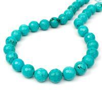 380cts Dyed Blue-Green Magnesite Faceted Rounds Approx 12mm, 38cm Strand