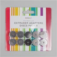 Polymer Clay Extruder Adapters Discs Pack 4