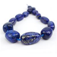 712cts Lapis Lazuli Graduated Large Nuggets Approx 18x13 to 35x20mm, 38cm Strand