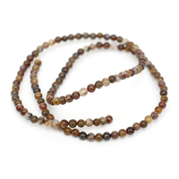 20cts Pietersite Plain Rounds Approx 3mm, 38cm Strand