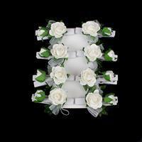 White Rose Spray Pegs - (8pcs/pk)