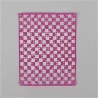 """Silk Screen - Checked Pattern Approx 4x5"""""""