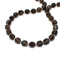 Weekday WOW 170cts Smokey Quartz Fancy Faceted Beads Approx 10x9mm, 38cm Strand