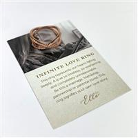 Willow & Tig Collection: Rose Gold Plated 925 Sterling Silver Eternal Love Ring