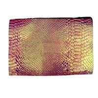 Synthetic-Leather Faux Croc Skin Opal AB 7x10.5in