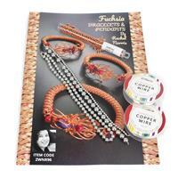 Silver Fuchsia Bracelets & Pendants with Booklet by Rachel Norris