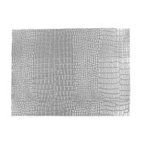 Synthetic-Leather Silver Semi-Gloss 7x10.5in
