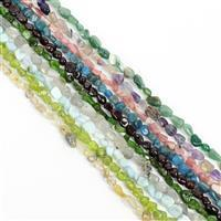 930cts Mix Gemstone small nuggets Approx 5x8mm, 38cm (set of 10)