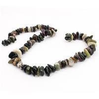 320cts Multi-colour Tourmaline Centre Drilled Slices Approx 2x8mm, 38cm strand