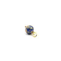 3.79cts Willow & Tig Collection: Gold Plate 925 Sterling Silver & Lapis Lazuli Globe Charm
