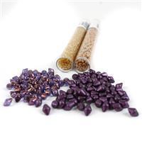 Royal Purple; Spiky Button Beads 2x100pcs, Miyuki 8/0 & 11/0