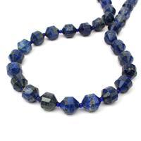 290cts Lapis Lazuli Faceted Satellite Beads Approx 12x10mm, 38cm