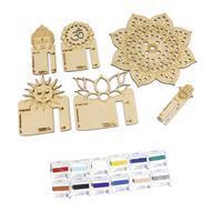 Mala Madness; Mandala Board & Tassel Making Kit & 0.5mm Nylon Cord 12 x 2m