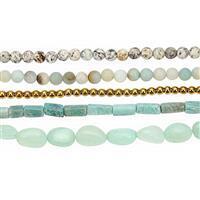 550cts Multi Gemstone Mixed Shape & Sizes 15 inch strand (Pack of 5)