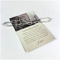 Willow & Tig Collection: 925 Sterling Silver Paperclip Bracelet Approx 18 cm.