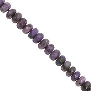 70cts Charoite Faceted Roundelle Ap70cts Charoite Graduated Faceted Roundelle Approx 6x3 to 8.5x5.5mm, 14cm Strandprox 6x3 to 8.5x5.5mm, 14cm Strand